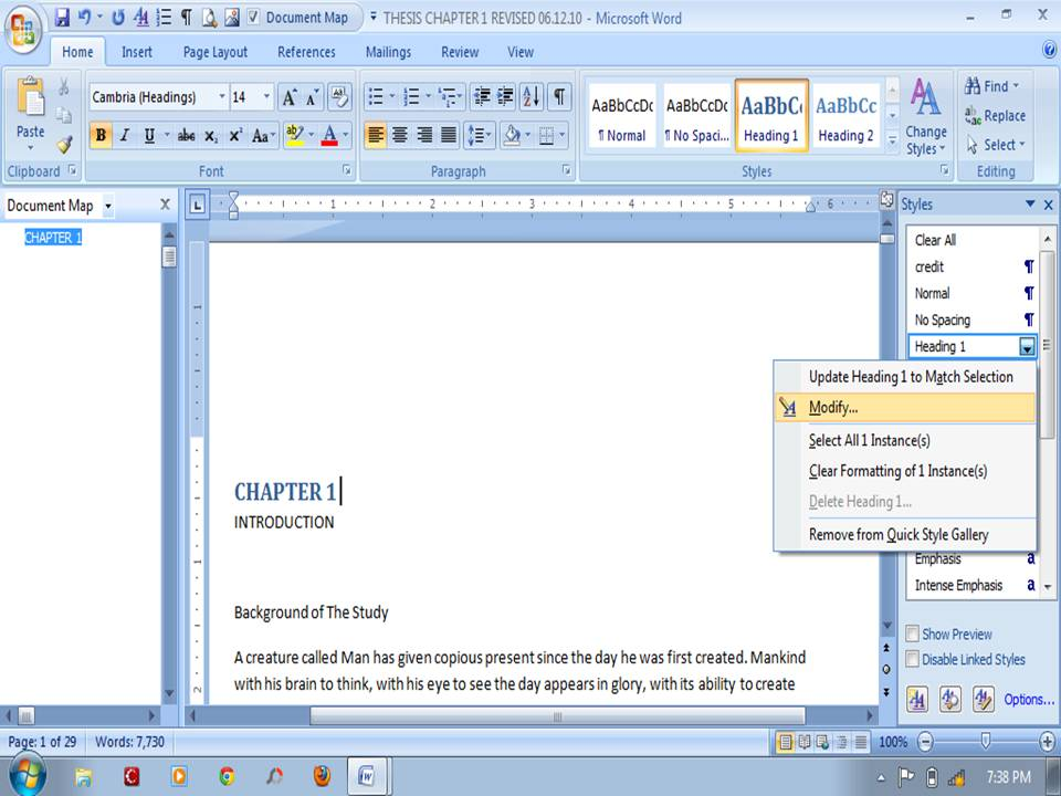 how to delete the same thing in word document