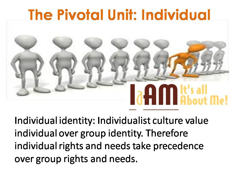 the difference between the individualism and Moreover, within every country regional cultural differences exist, also in the  states  in individualist societies people are only supposed to look after  themselves.